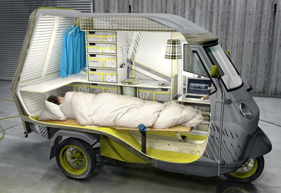 Smallest RV Ever Still Manages To Cram In A Bed, Stove, Work Area,  Refrigerator, And More.